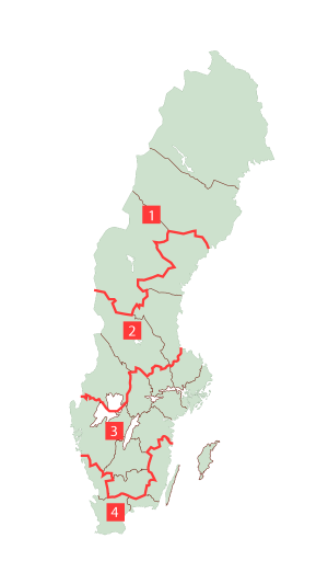 Sveriges fyra klimatzoner